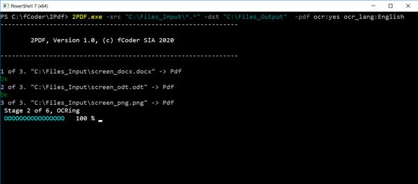 Konvertierung von Ordner-zu-Ordner-Dateien zu PDF mit OCR über 2PDF