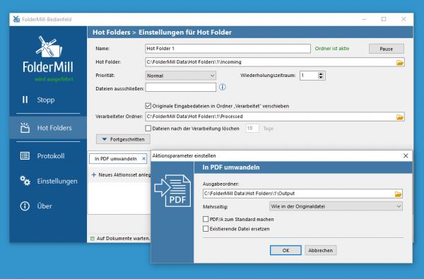 Automatisieren Sie die Konvertierung von PST zu PDF mit FolderMill